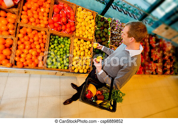Grocery Store Fruit - csp6889852