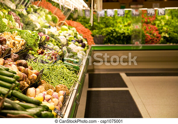 Grocery store or supermarket - csp1075001