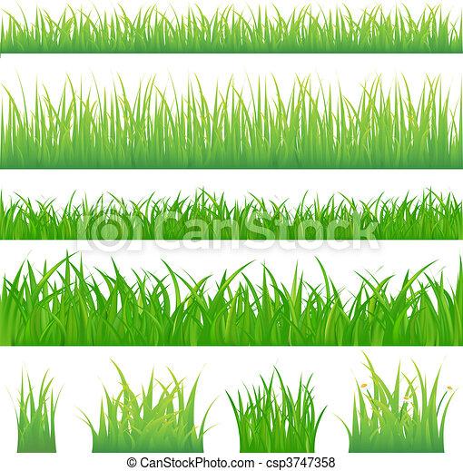 groen gras, achtergronden, 4, tufts - csp3747358