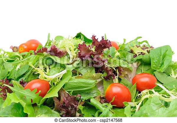 groene salade, achtergrond - csp2147568