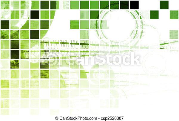groene, techno, organisch - csp2520387