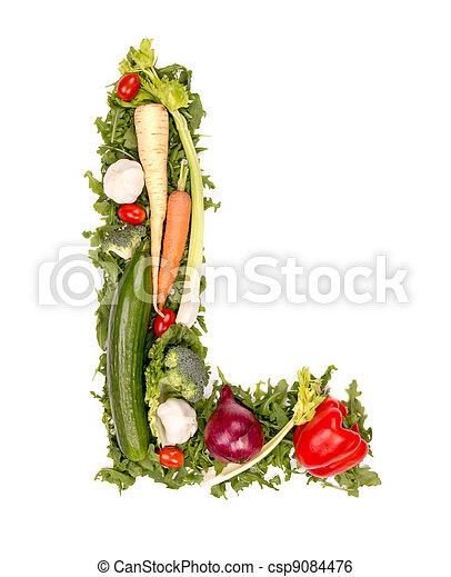 groente, brief - csp9084476