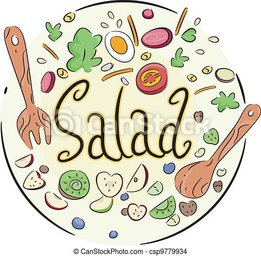 groente, slaatje - csp9779934