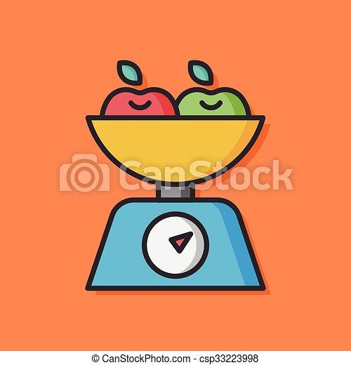 groente, vector, slaatje, pictogram - csp33223998