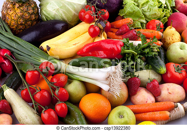 groentes, vruchten - csp13922380