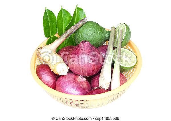 groentes, witte achtergrond - csp14855588