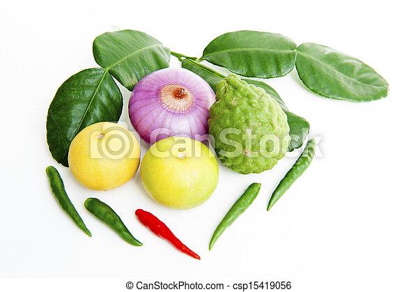 groentes, witte achtergrond - csp15419056