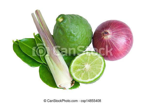 groentes, witte achtergrond - csp14855408