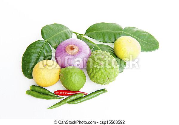 groentes, witte achtergrond - csp15583592