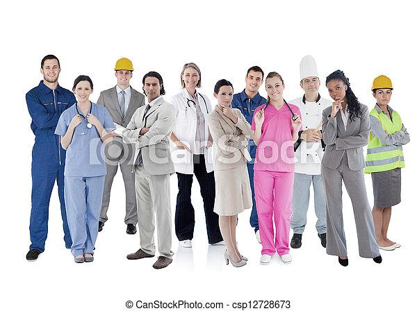 groep, groot, werkmannen  - csp12728673