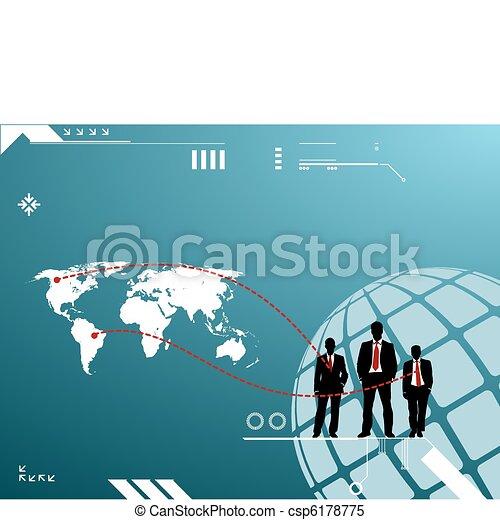 groep, mannen, silhouette, zakelijk - csp6178775