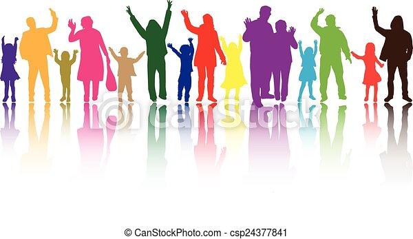 groep, mensen - csp24377841