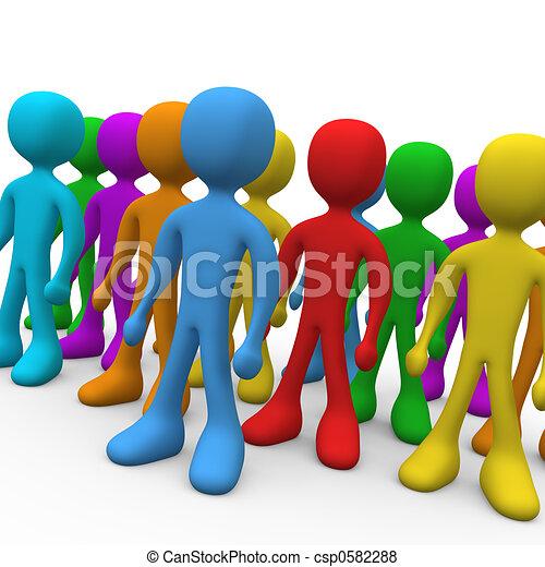 groep, mensen - csp0582288