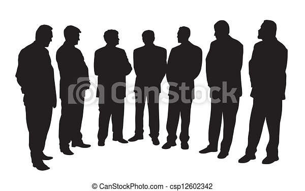 groep, zakenlui - csp12602342
