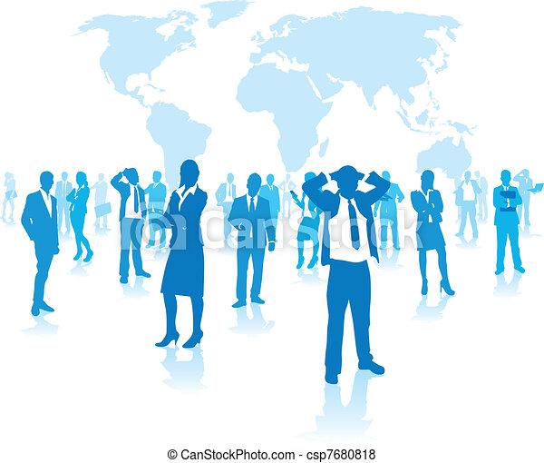 groep, zakenlui - csp7680818