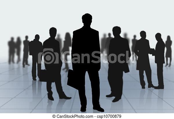 groep, zakenlui - csp10700879