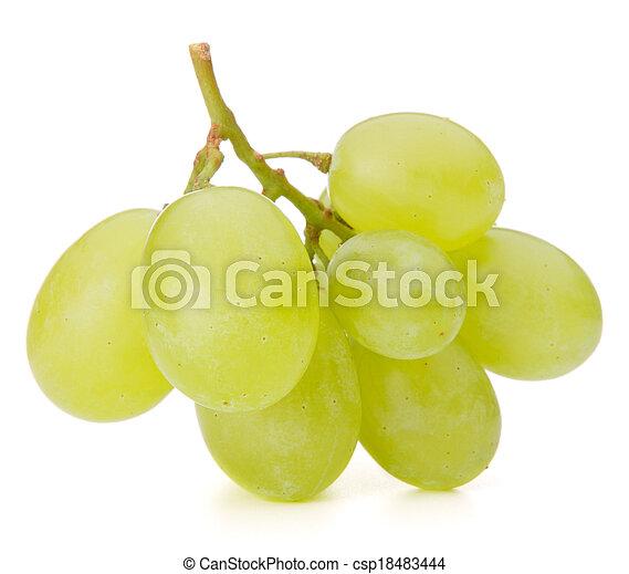grono, winogrono, zielony - csp18483444