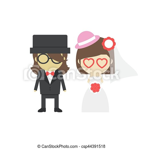 groom and bride - csp44391518