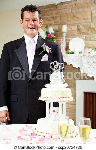 Groom at Gay Wedding - csp20724720