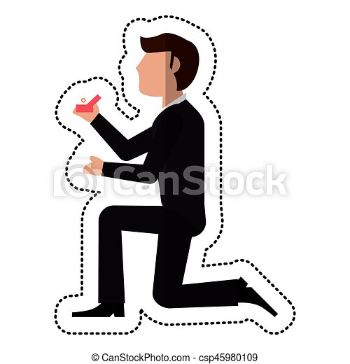 groom man proposal image vector illustration eps 10 vector clipart rh canstockphoto com wedding proposal clipart business proposal clipart free