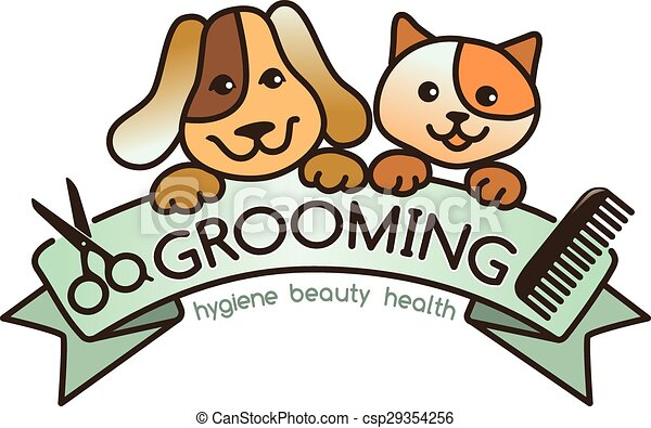 grooming logo creative rigorous logo grooming pets clipart vector rh canstockphoto com clipart dog grooming salon dog grooming clip art free