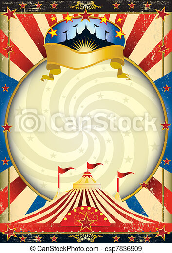 groot bovenst, circus, poster - csp7836909