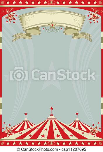 groot bovenst, circus, retro - csp11207695