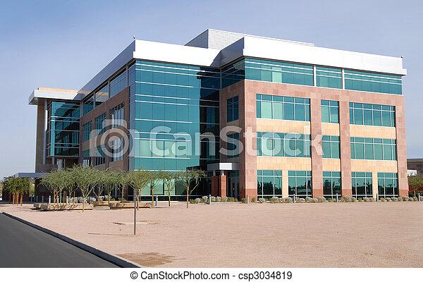 groot gebouw, moderne, kantoor - csp3034819
