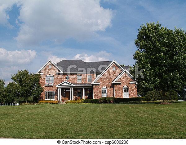 groot, verhaal, home., baksteen, twee - csp6000206