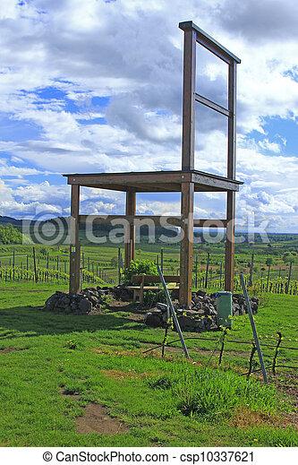 groot, wijngaarden, stoel - csp10337621