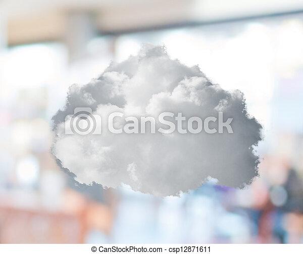 gros plan, nuage blanc - csp12871611