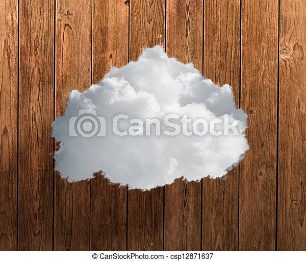 gros plan, nuage blanc - csp12871637