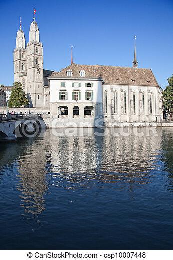 """""""Grossmunster"""" cathedral in Zurich - csp10007448"""