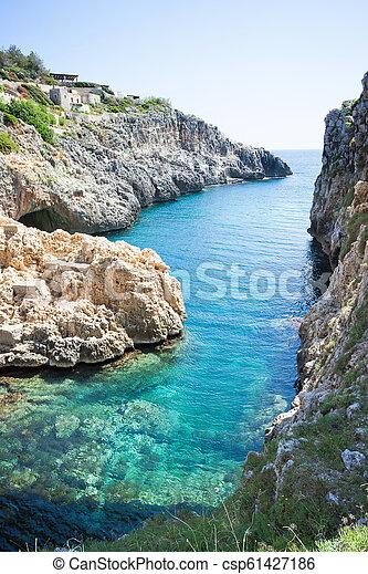 grotte, ciolo, -, leuca, meer, adratic, apulia - csp61427186