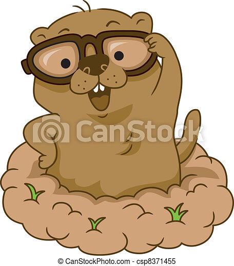 groundhog day illustration of a groundhog wearing glasses clipart rh canstockphoto com cute groundhog clipart groundhog clipart animated