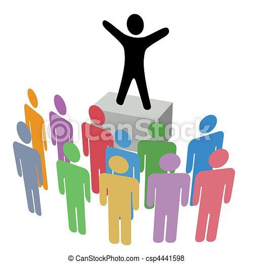 Group Announcement Communication Campaign Soapbox - csp4441598