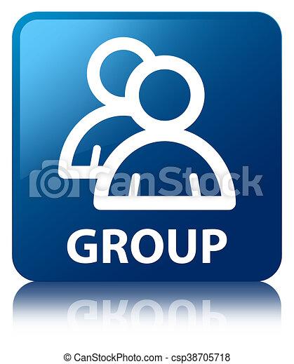 Group blue square button - csp38705718