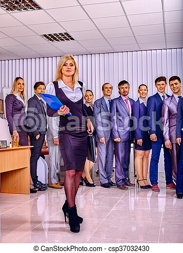 Group business people in office. - csp37032430