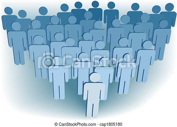 Group company congregation or population of 3D symbol people - csp1805180