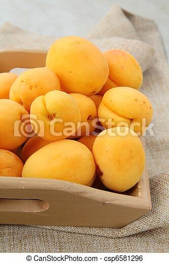 Group fruit apricot - csp6581296