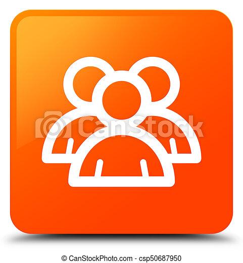 Group icon orange square button - csp50687950