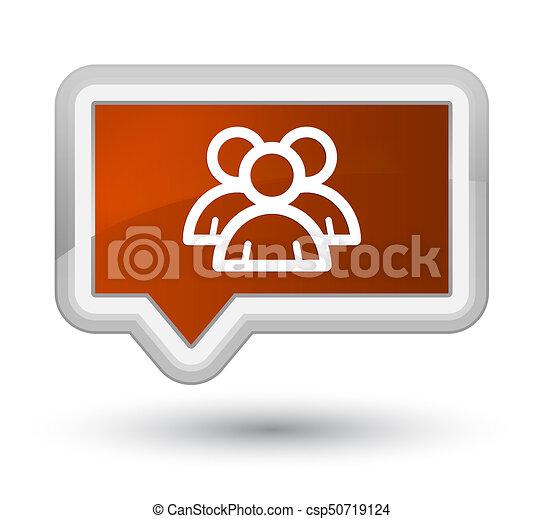 Group icon prime brown banner button - csp50719124