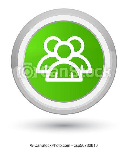 Group icon prime soft green round button - csp50730810