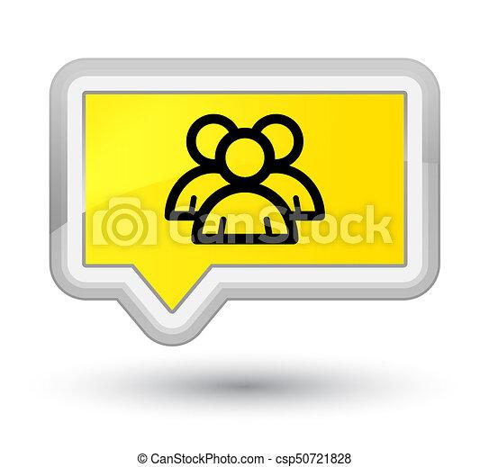 Group icon prime yellow banner button - csp50721828