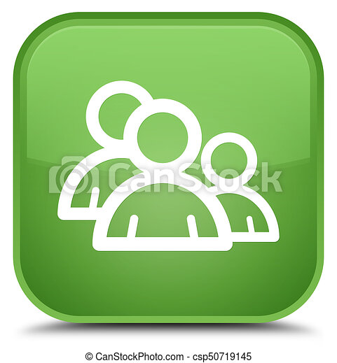 Group icon special soft green square button - csp50719145