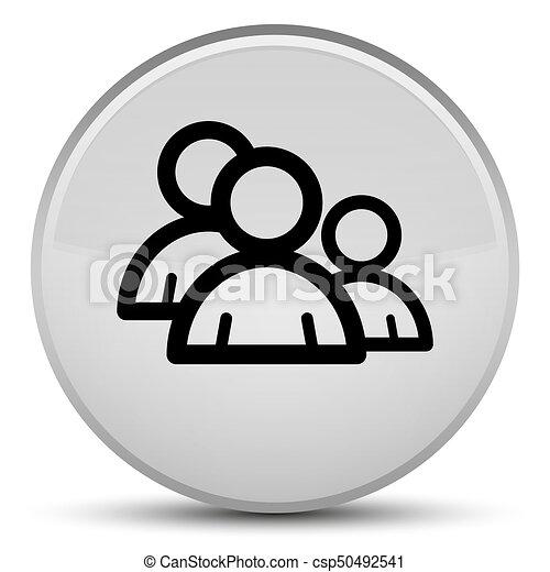 Group icon special white round button - csp50492541