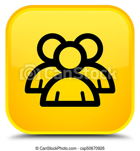 Group icon special yellow square button - csp50670926