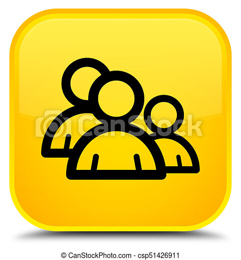 Group icon special yellow square button - csp51426911
