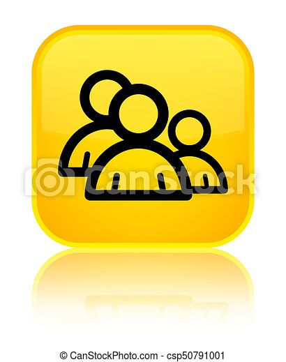 Group icon special yellow square button - csp50791001