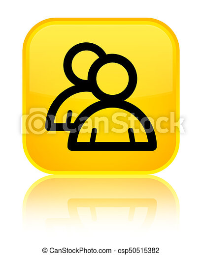 Group icon special yellow square button - csp50515382